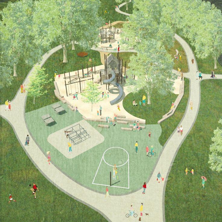 Presentation/diagrams  Leuven - Philipspark - Plaine de jeux | Suede36