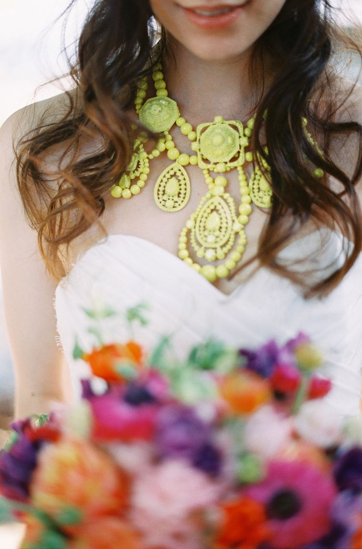neon statement necklace / Byron Loves Fawn Photography