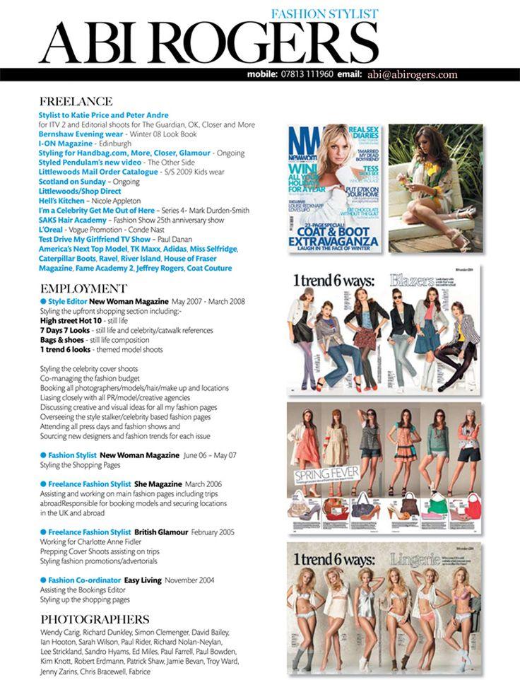 Fashion CV Examples