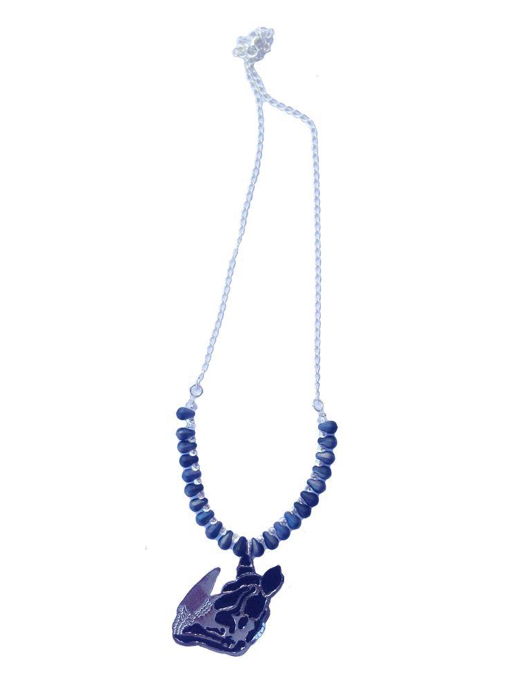 Puedes conseguirlos en www.facebook.com/.... Collar rhino! Necklace. Accesorios ecosostenibles.