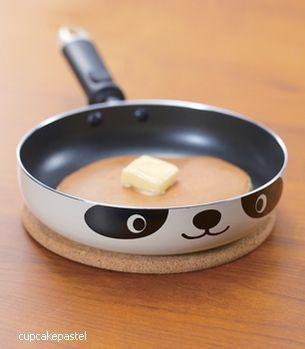 Panda frying panFries Pan, Minis Dog Qu, Minis Pandas, Pandas Pan, Geek Gift, Housewarming Gift, Pandas Gift Ideas,  Frypan, Pandas Skillets