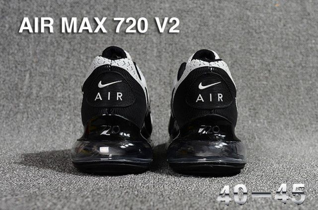 Nike Air Max 720 V2 KPU Men's Running Shoes Grey Black