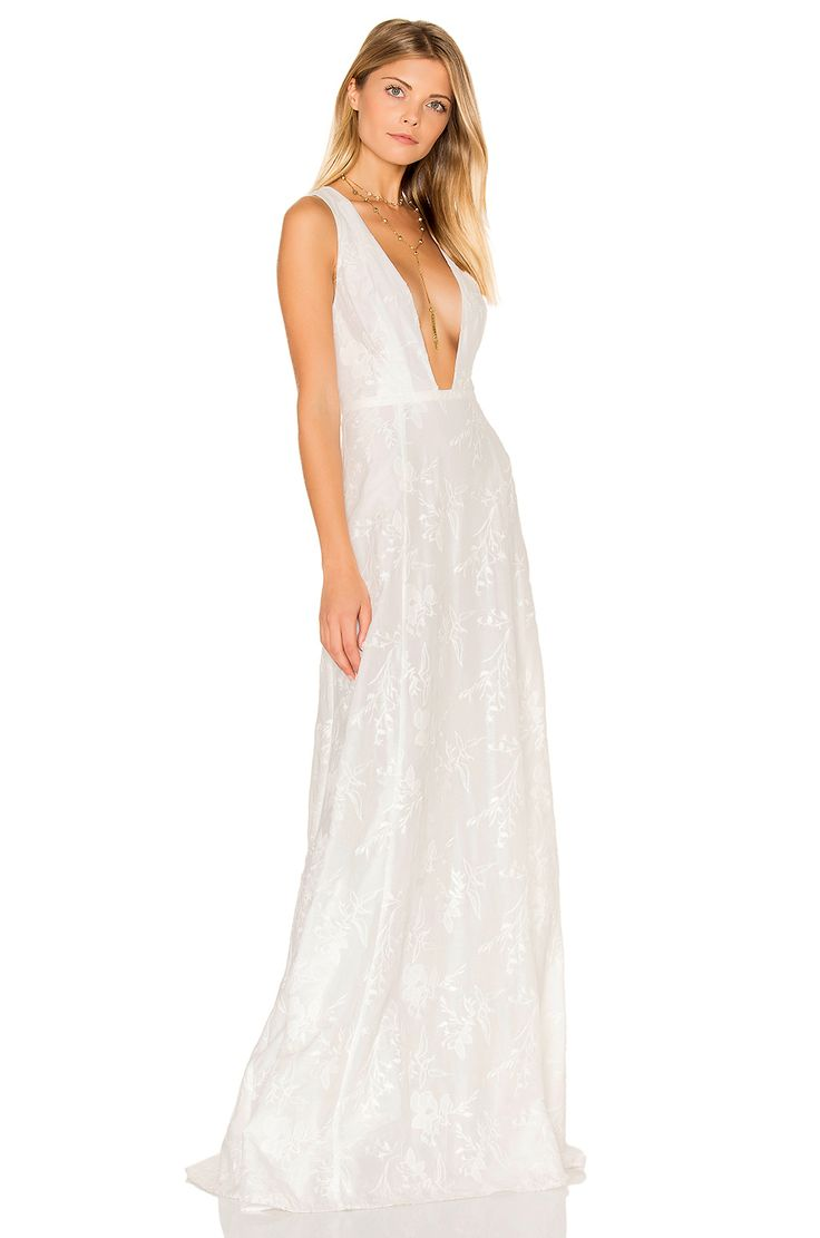 The jetset diaries monta vista maxi dress in ivory for Ivory casual wedding dresses