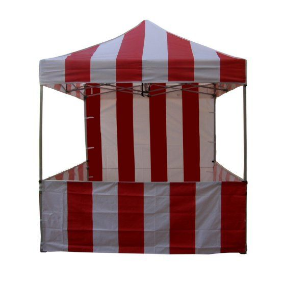 Impact Canopy Carnival 8x8 ft. Pop Up Canopy Tent Vendor Booth With Sidewalls and Skirts
