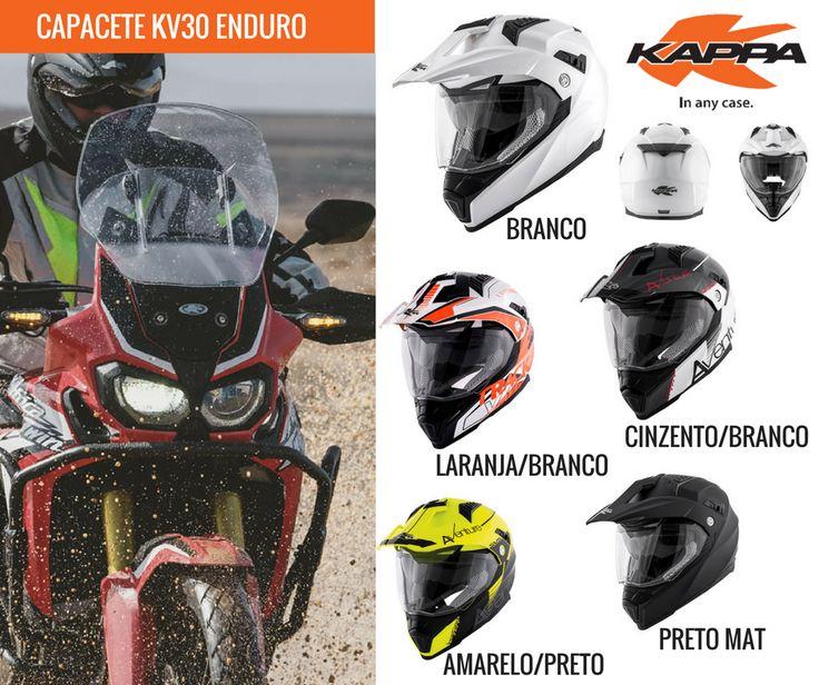 KAPPA | Capacete KV30 Enduro Quase a entrar no mercado Português, o capacete KV30 Enduro da KAPPA é uma das novidades para este verão, para os amantes das 2 rodas! #kappa #lusomotos #capacete #KV30 #enduro #trial #estilodevida #andardemoto #qualidade #segurança #conforto