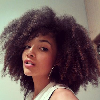 Hair Style Icons : Leanora // 3C Natural Hair Style Icon // Black Girl with Long Hair
