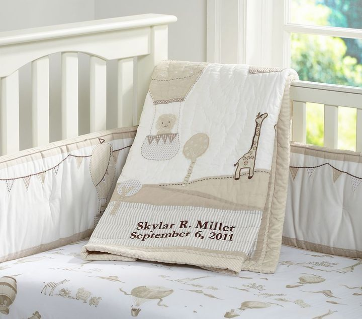 Baby Balloons Nursery Bedding From Pottery Barn
