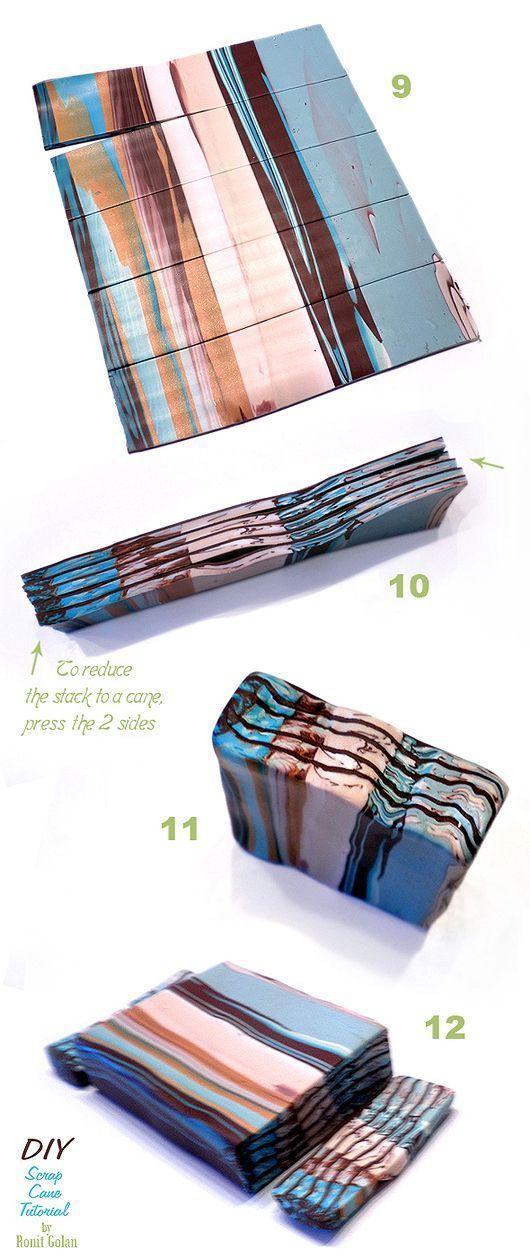 Ronit Golan – Polymer Clay Joy – Inspire to Create: Scrap Cane Tutorial   – …