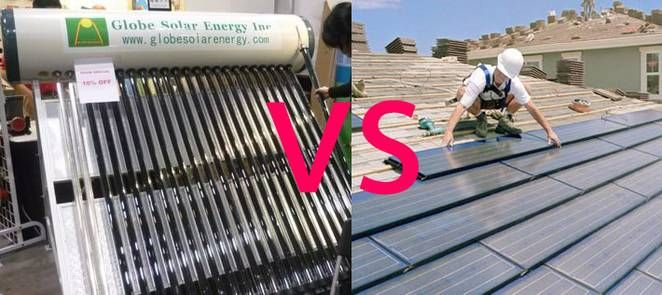 solar thermal vs photovoltaic- •Solar thermal systems generate a lot of energy in the summer, far more than you need. But you can't really store it and put it away for the winter very easily. With a grid-tied PV system, you can sell the electricity that you don't need. You can buy it back when you need it in winter. This makes a watt of electricity a LOT more valuable than a watt of heat.