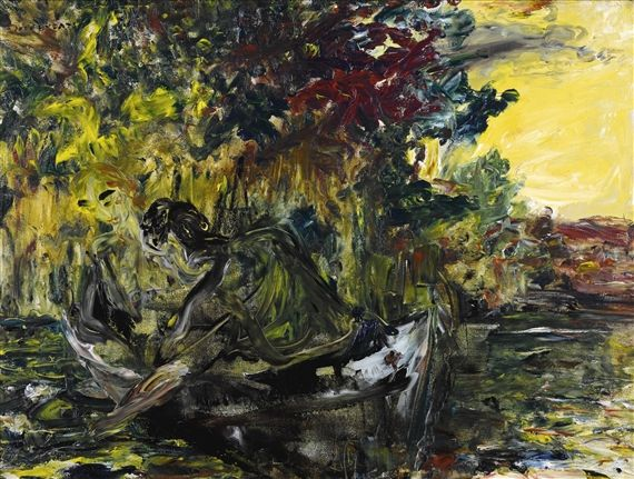 Artwork by Jack B. Yeats, WATER LILIES, Made of oil on canvas