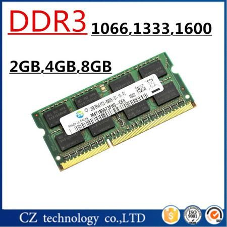 Sale 2gb 4gb 8gb DDR3 1066 1333 1600 1600mhz 1333mhz 1066mhz SO-DIMM DDR3L DDR3 4GB Memory Ram Memoria sdram For Laptop Notebook  — 744.82 руб. —