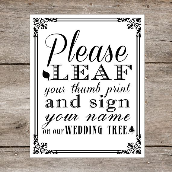 @Marlene Duerksen  INSTANT DOWNLOAD  Wedding Tree Thumb Print by freshlovecreations, $8.95