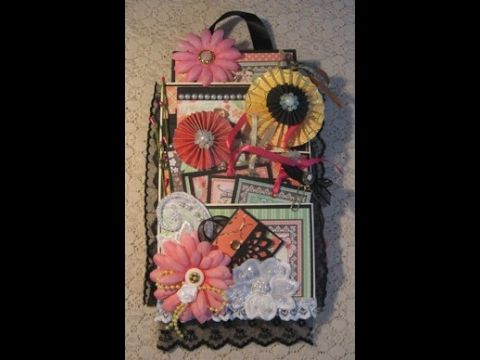 Loaded Envelope with Scrapbook Mini Album (Graphic 45 Time to Celebrate)