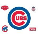 37 in. H x 37 in. W Chicago Cubs Logo Wall Mural, Multi