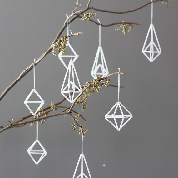 Via Etsy | Himmeli | Geometric Christmas Decoration