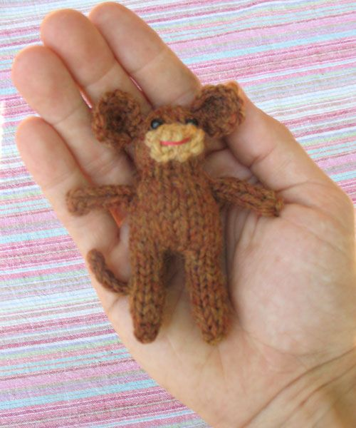Free Knitting Pattern: Tiny Monkey from Duo Fiberworks