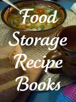 Food Storage Recipe Books. She has a year's worth of food stored and gives ideas for cooking it. Inspiration for camping and for country living.