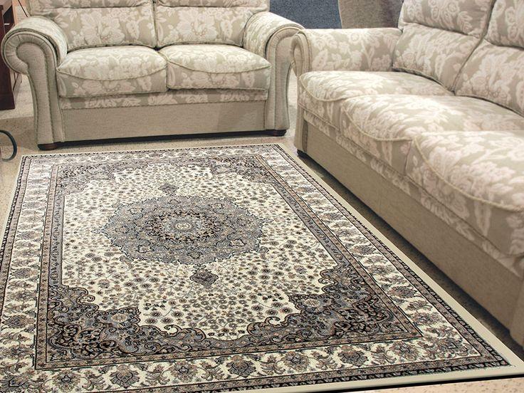 Alfombra tayro 8582 sualsa alfombra suave de pelo corto - Alfombra gris pelo corto ...
