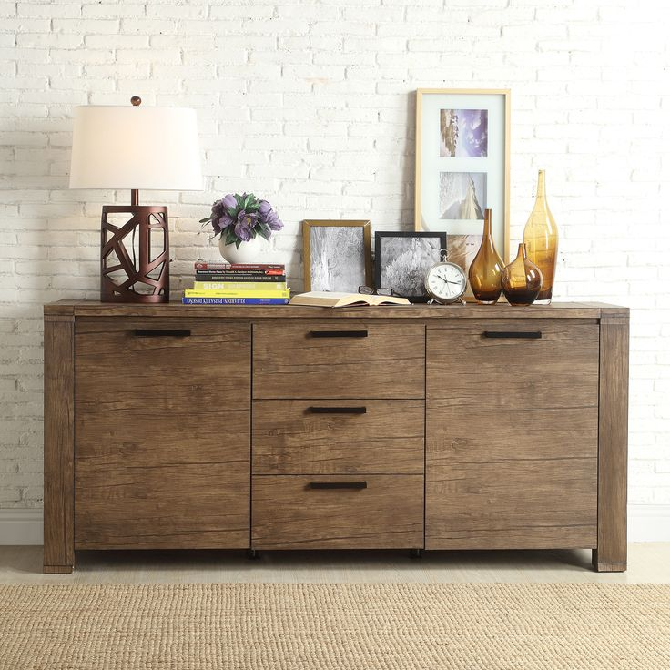 INSPIRE Q Catalpa Walnut Finish Weathered Highboard - Overstock Shopping - Big Discounts on INSPIRE Q Buffets