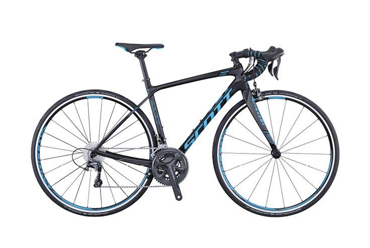 Scott Contessa Solace 15 http://www.bicycling.com/bikes-gear/newbikemo/2016-buyers-guide-best-womens-road-bikes/slide/4