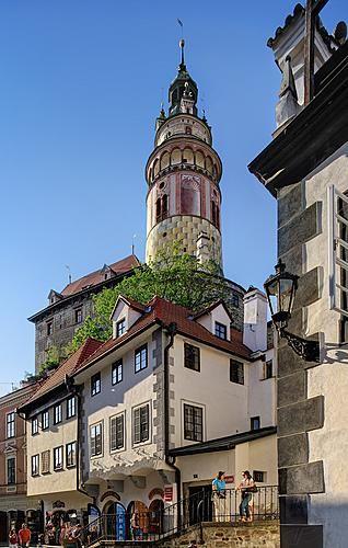 Tower of Český Krumlov castle (South Bohemia), Czechia
