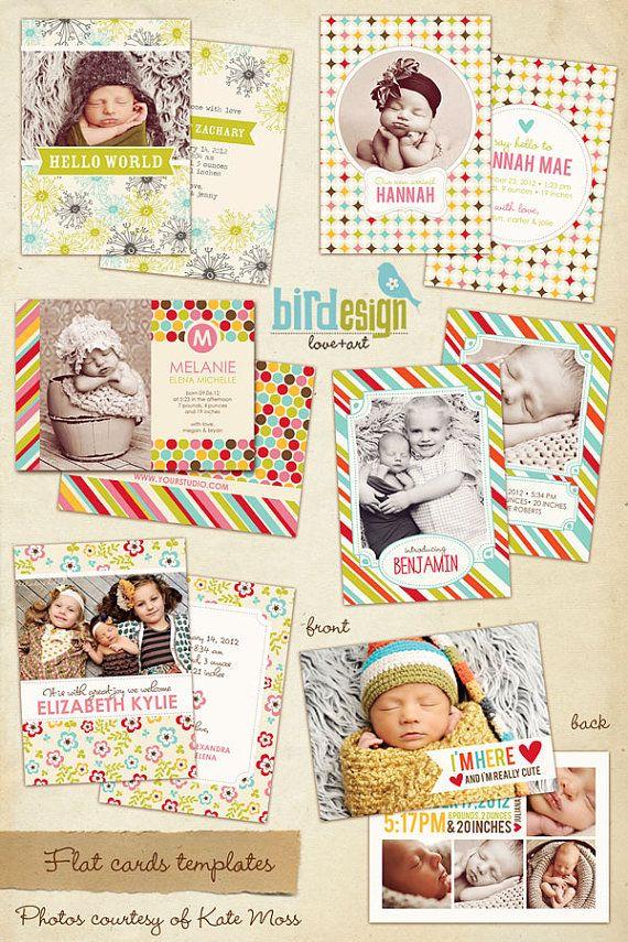 Birdesign!: Design Templates, Birdesign Births, Announcements Inspiration, Birth Announcement Cards, Births Announcements Cards, Baby Cards Announcements, Photography Templates, Album Cards, Cards Templates