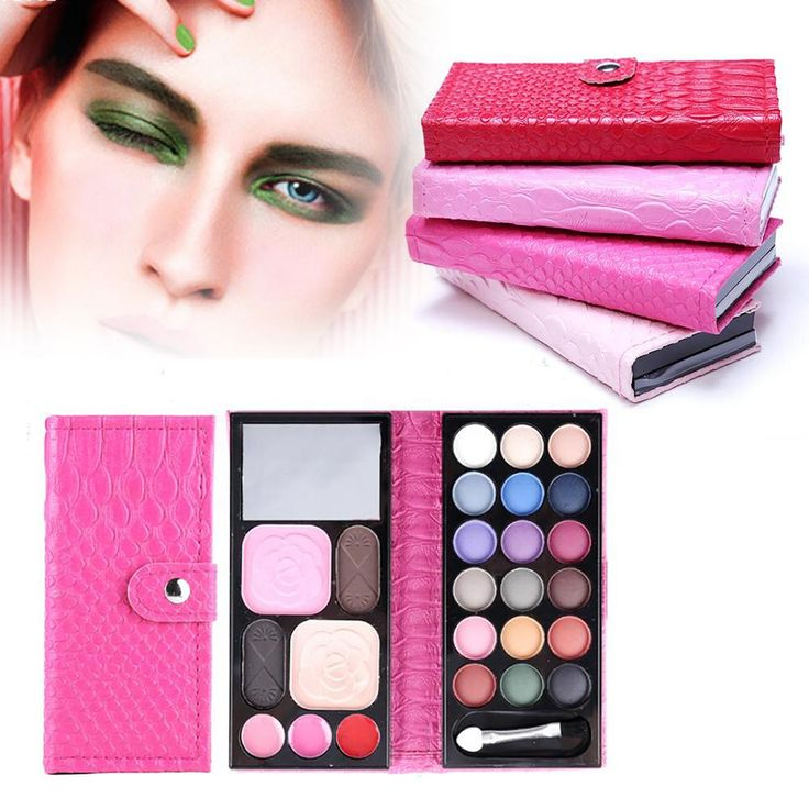 Professional 18 Colors Eyeshadow Palette Eyes Charms Bronzer Blush Foundation Makeup Palette Pink Make Up Kit Y1-5