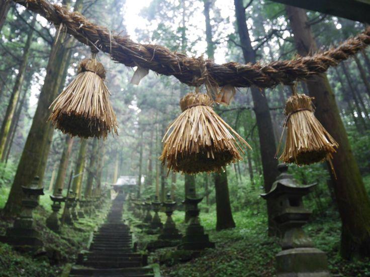 Aug , 2016 . Kumamoto , Japan . 熊本 上色見熊野座神社
