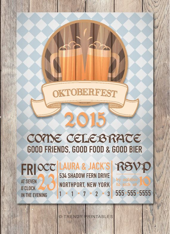 Oktoberfest Invitation, Oktoberfest Party Invitation, Halloween Party…