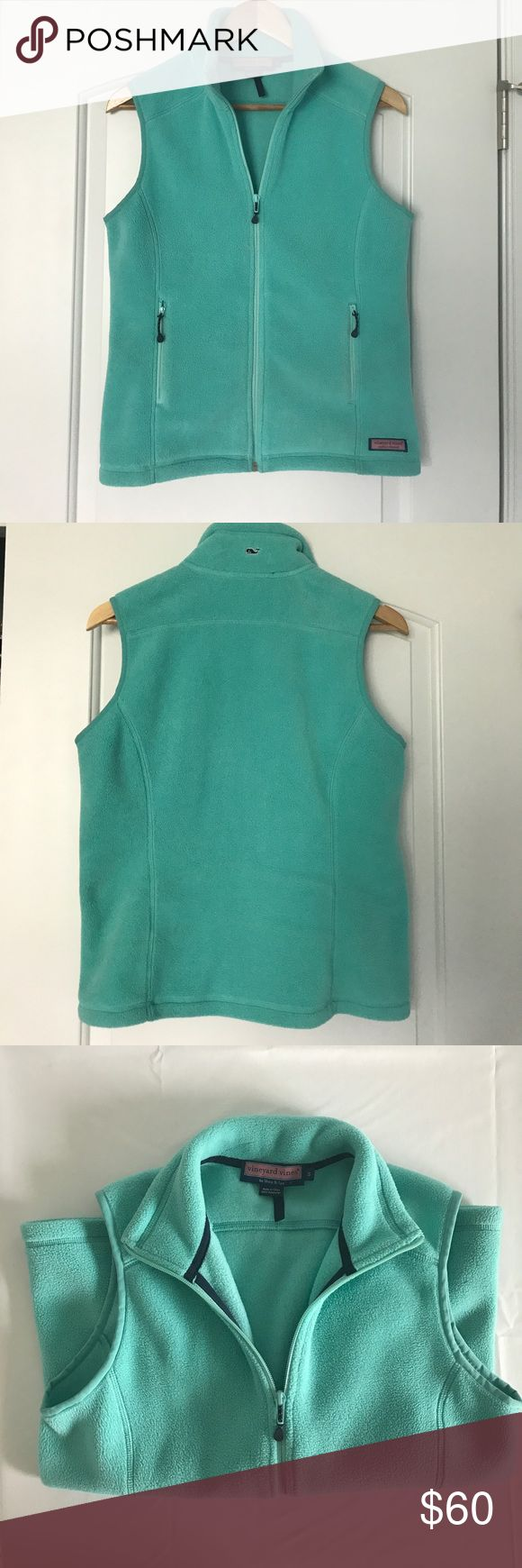 Vineyard Vines Teal Fleece Vest (S) Awesome teal vineyard vines fleece vest. Barely used and in GREAT condition. This is an absolutely perfect preppy and cozy layering piece. Size Small. Vineyard Vines Jackets & Coats Vests
