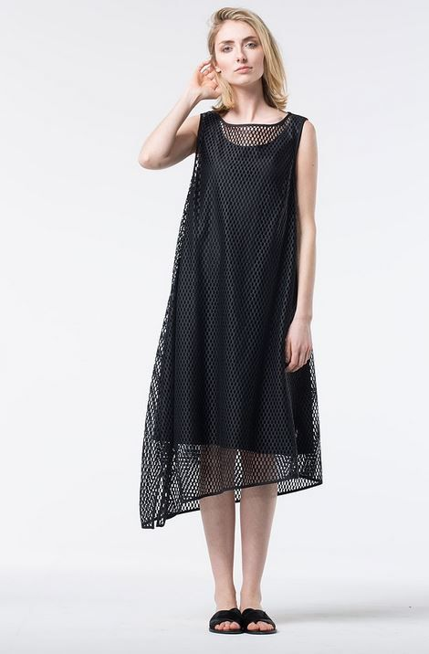 Lace Dress with a Graphic Pattern at OSKA New York.