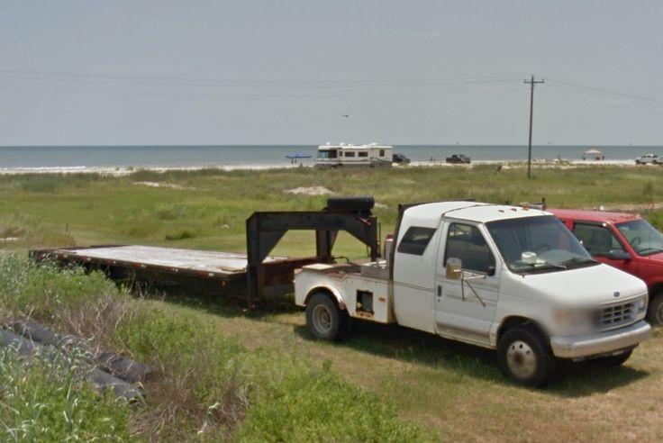 Ford flatbed w/ gooseneck flatbed trailer
