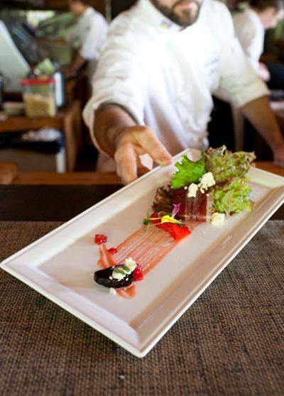 Delicious salads, 5 course gourmet meals in our cookhouse at Clayoquot Wilderness Resort. www.wildretreat.com