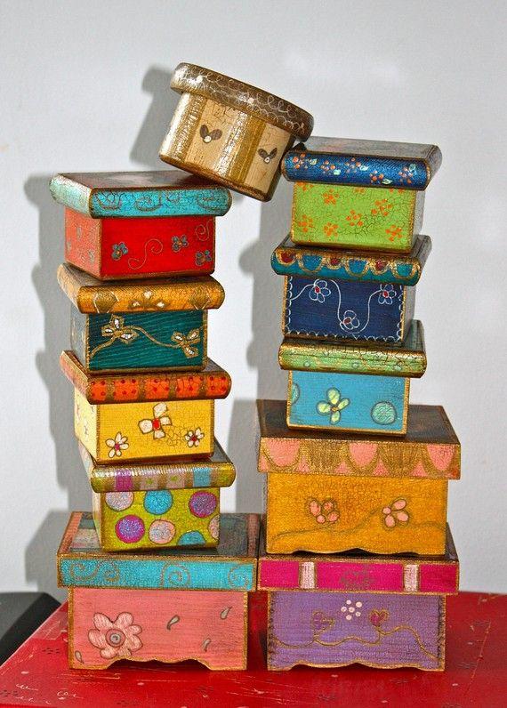 Art Boxes by Flor Larios. Love!