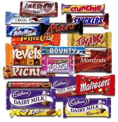 British candy bars.  Maltesers!!!