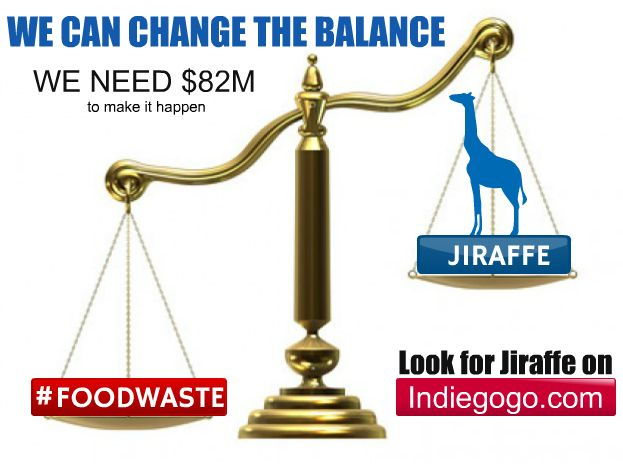 We will change the balance together.  Look for Jiraffe on Indiegogo https://www.indiegogo.com/projects/jiraffe-saving-earth-by-building-relationships/x/8859577 Stop #foodwaste and #hunger