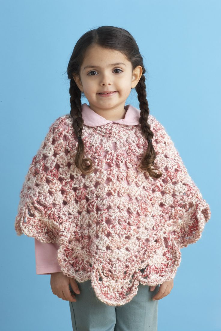 Endearing Girls Poncho Pattern (Crochet)