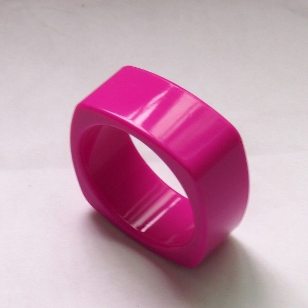 Deep Pink Food Grade Silicon Teething Bangle