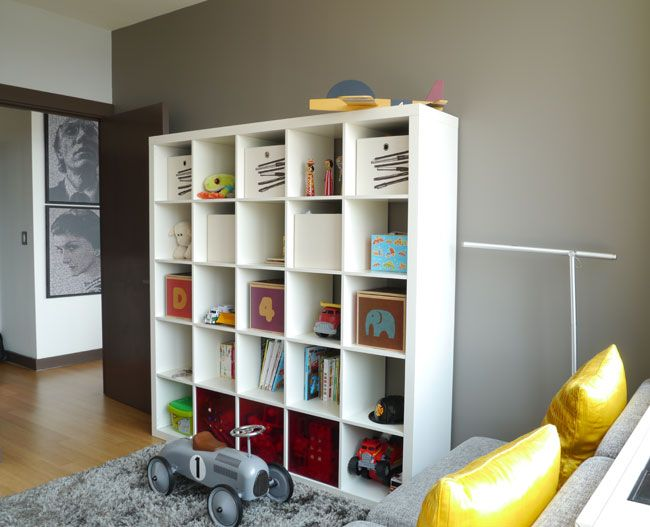 Child's room. Ikea shelves. Toy Speedster racecar. Rocker from Bloom. 6.29.12: Noha Hassan-Smith   New York Social Diary, photo by Jeff Hirsch