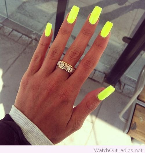 Cool neon long square nails - Best 25+ Long Square Nails Ideas On Pinterest Square Nails