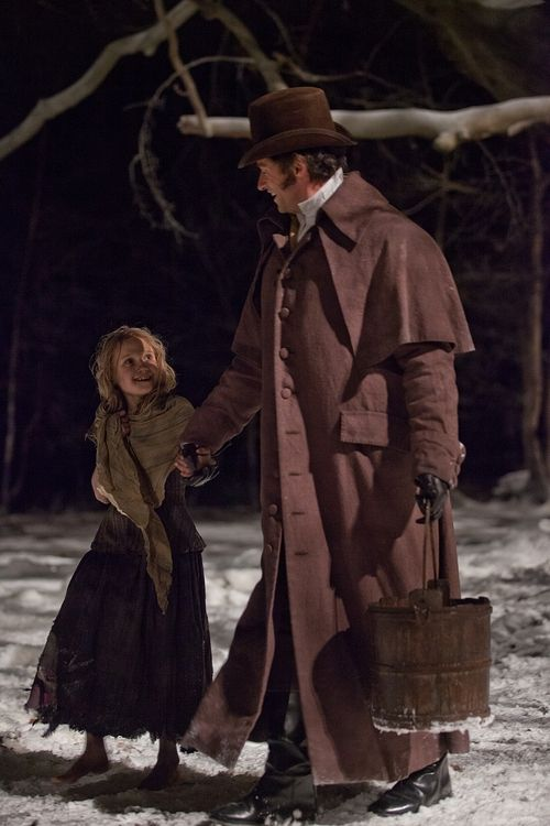 Valjean & Cosette - Hugh's portrayal of an adoptive parents was so convincing that I was not that surprised to learn that he is an adoptive parent in real life and is a big advocate for adoption, and I think his passion comes across in his portrayal.