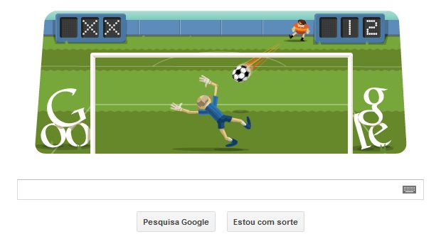Futebol é tema de Doodle interativo em homenagem às Olimpíadas de Londres