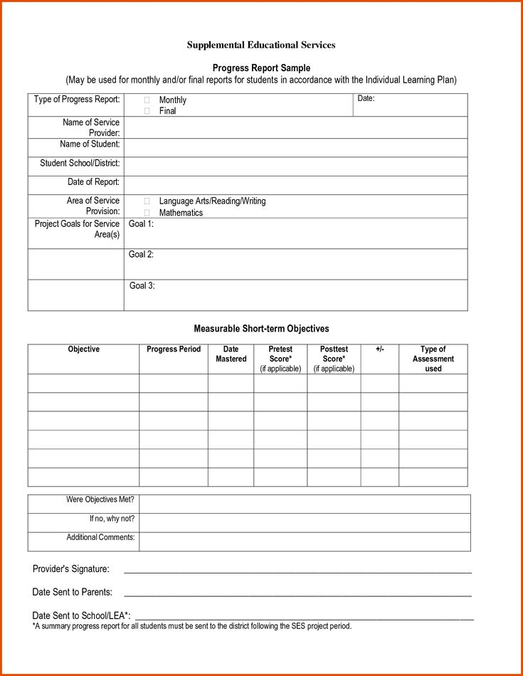 Progress Report Sample771590png sample progress report - appraisal order form