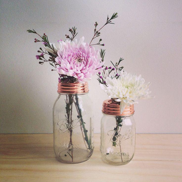 Rainy Sunday copper flower jars. Available at www.rainysunday.com.au