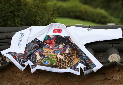kimono jujitsu bresilien muaewear avec intérieur imprimé