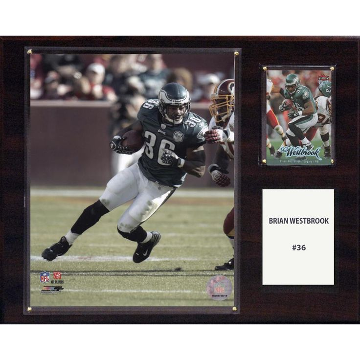 NFL 12in x15in Brian Westbrook Philadelphia Eagles Player Plaque