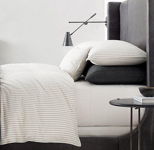 Soft Cotton Pinstripe Duvet Cover Bedrooms Pinterest