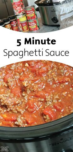 Have 5 minutes? Then you have plenty of time to make this quick spaghetti sauce. Ready… Set… Go!
