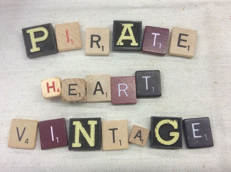 Have some fun with our vintage Anagram and Scrabble letters. What do you want to spell?
