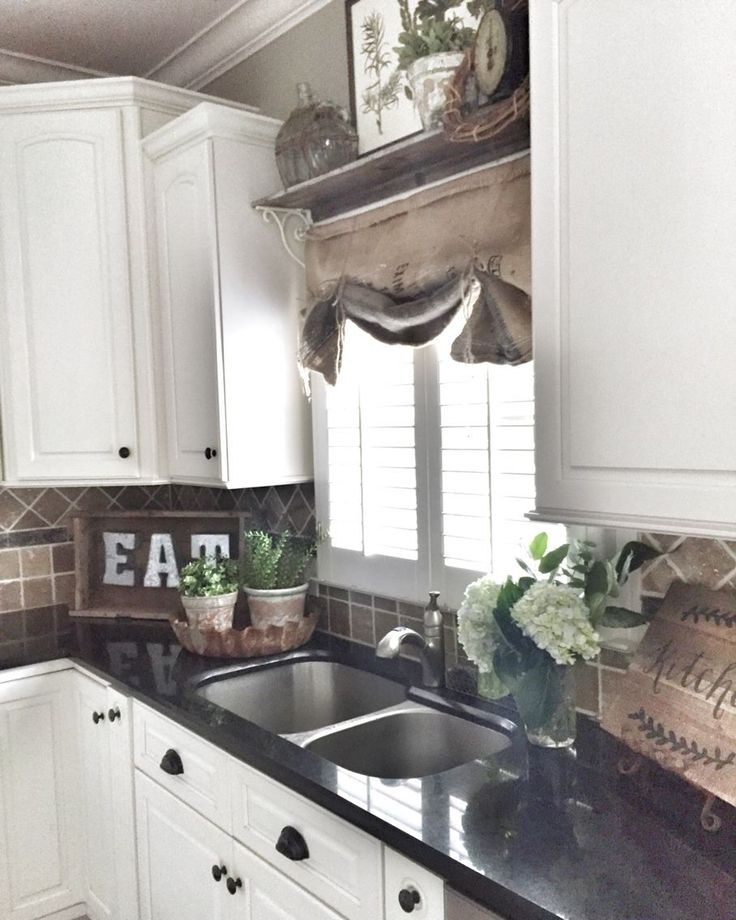Kitchen Cabinet Valance: Sinks, Farmhouse Sinks And Open Shelves
